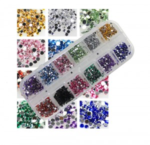 Set Strass Diamand Rond 2mm (1200 stuks)