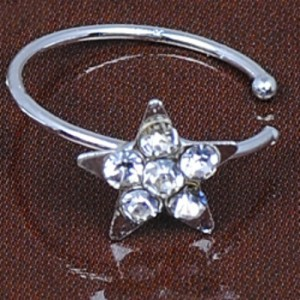 Fake Piercing Crystal Star