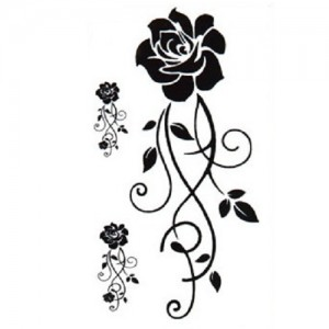 Fake Tattoo Black Roses